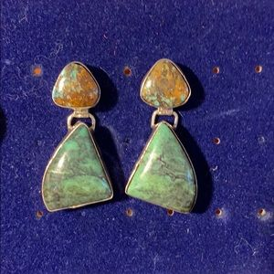 Jewelry - Sterling turquoise earrings